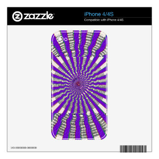 HOLY Purple Cosmic Force - Tune to your innerself Decal For The iPhone 4