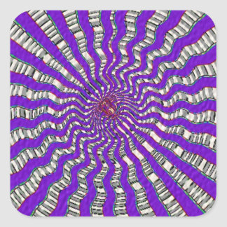 HOLY Purple Cosmic Force - Tune to your innerself Square Sticker