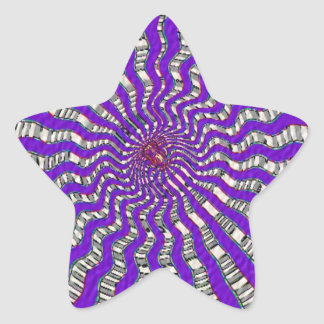 HOLY Purple Cosmic Force - Tune to your innerself Star Sticker