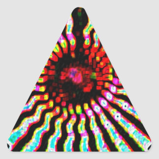 HOLY Purple Cosmic Force - Tune to your innerself Triangle Sticker