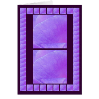 Holy Purple Flower Petal - Add your text Greeting Card