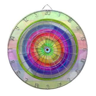 Holy Purple Rainbow Wheel Dartboard With Darts