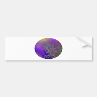 Holy Purple with Silver Streaks V3 Bumper Sticker