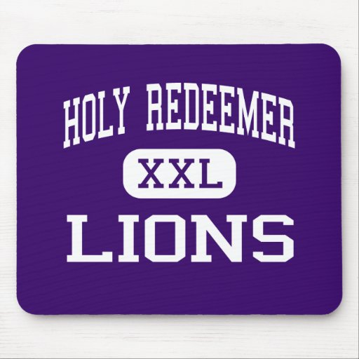 Holy Redeemer - Lions - High - Detroit Michigan Mouse Pads