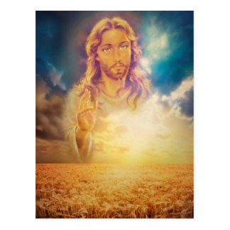 Holy Religious Jesus Blessing Postcard