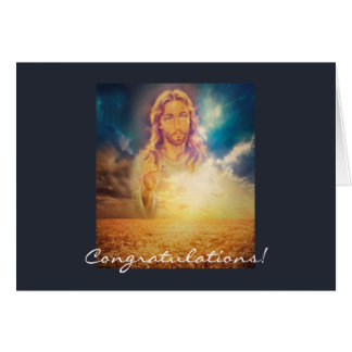 Holy Religious Jesus Blessing Sunday Greeting Card