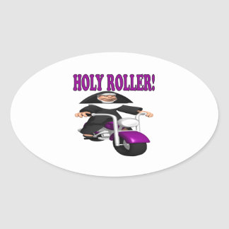 Holy Roller Oval Sticker
