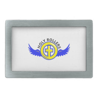 HOLY ROLLERS RECTANGULAR BELT BUCKLE