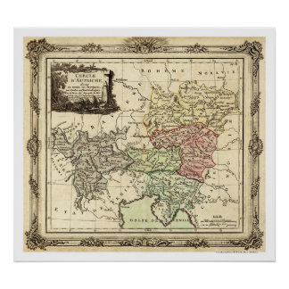 Holy Roman Empire Map 1792 Poster