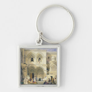 Holy Sepulchre, in Jerusalem (colour litho) Key Chains