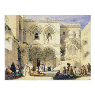 Holy Sepulchre, in Jerusalem (colour litho) Postcard