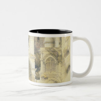 Holy Sepulchre, in Jerusalem (colour litho) Two-Tone Coffee Mug