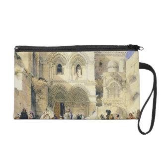 Holy Sepulchre, in Jerusalem (colour litho) Wristlet Purse