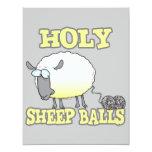 holy sheep balls funny unraveling yarn sheep custom invite