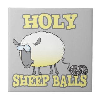 holy sheep balls funny unraveling yarn sheep ceramic tiles