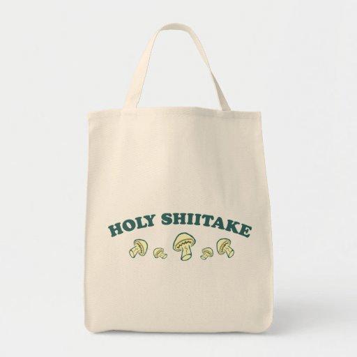 Holy Shiitake Tote Bags
