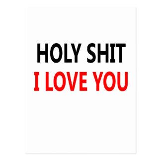 Holy Shit I Love You(1) Postcard