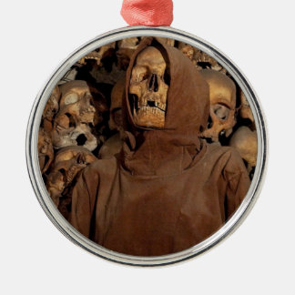 Holy Skull in a Capuchin Ossuary Metal Ornament