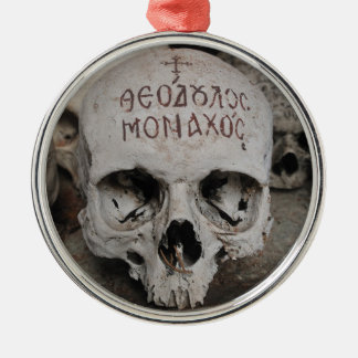Holy Skull in an Orthodox Ossuary Metal Ornament