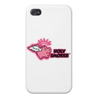 holy smoker logo pink tif iPhone 4 cover