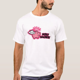 holy smoker logo pink tif T-Shirt