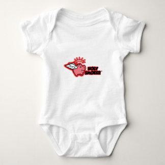 holy smoker logo red high rez baby bodysuit