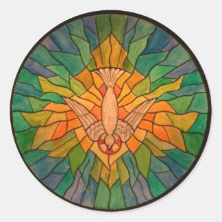 Holy Spirit 01 z-1 HS Round Stickers