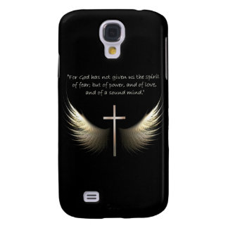 Holy Spirit and Christian Cross with Bible Verse Samsung Galaxy S4 Cases