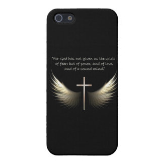 Holy Spirit and Christian Cross with Bible Verse iPhone 5 Covers