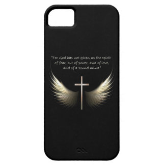 Holy Spirit and Christian Cross with Bible Verse iPhone SE/5/5s Case