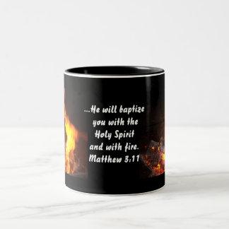 Holy Spirit and Fire Two-Tone Coffee Mug