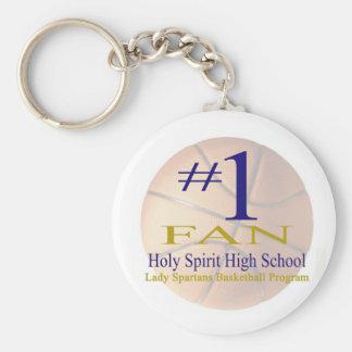 Holy Spirit Basic Round Button Keychain