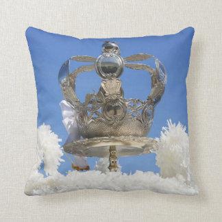 Holy Spirit crown Throw Pillows