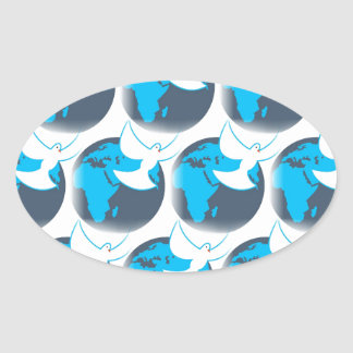 Holy Spirit dove abstract earth blessing Oval Sticker