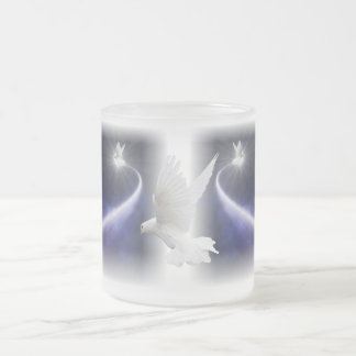 Holy Spirit Dove Art Frosted Coffee Mug