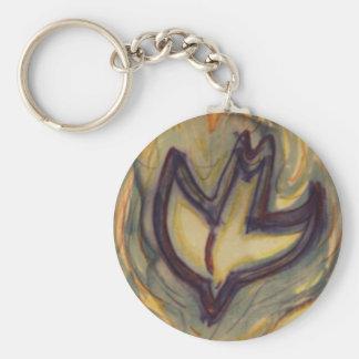 Holy Spirit Dove Basic Round Button Keychain