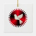 Holy Spirit Dove Ceramic Ornament