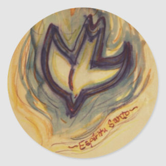 Holy Spirit Dove Classic Round Sticker