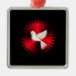 Holy Spirit Dove Metal Ornament