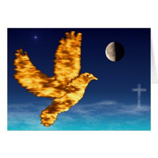 Holy Spirit Dove - Night Sky Phil 4:7 Card