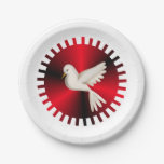 Holy Spirit Dove Paper Plate