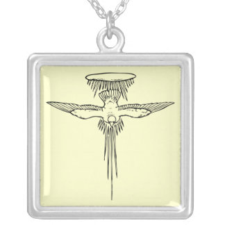 Holy Spirit Dove Sterling Silver Necklace