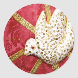 Holy Spirit doves Classic Round Sticker