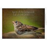 Holy Spirit fall afresh on me Card