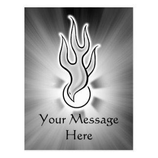 Holy Spirit Flame Dove Design Postcard