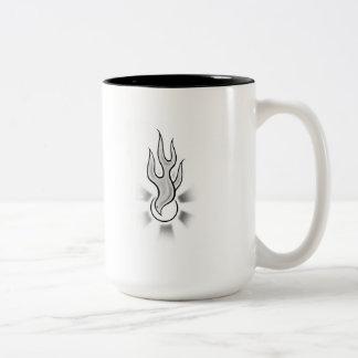 Holy_Spirit_Flame_Dove Two-Tone Coffee Mug