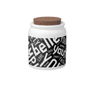 Holy Spirit Gear - Black circle white text Candy Jars