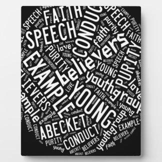 Holy Spirit Gear - Black circle white text Display Plaque