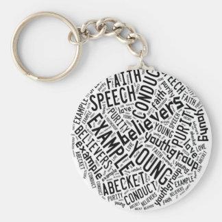 Holy Spirit Gear - white circle black text Basic Round Button Keychain