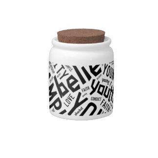 Holy Spirit Gear - white circle black text Candy Dish